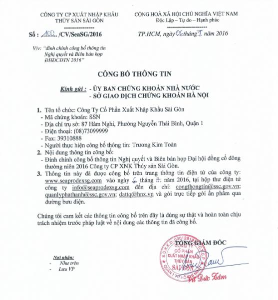 100.CV.SeaSG.2016(06.7) dinh chinh cbtt NQ+BBH DHCD2016